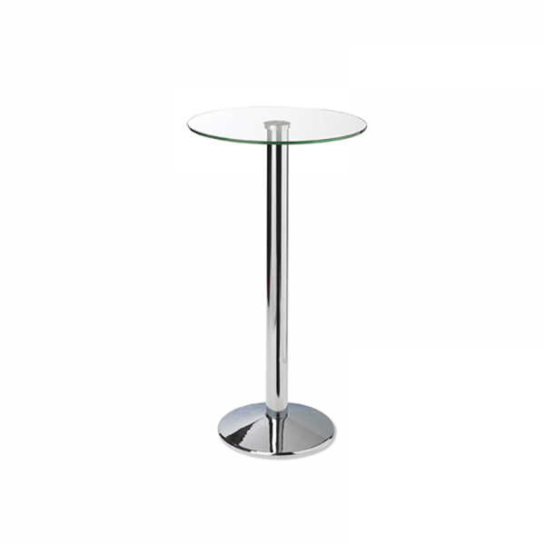 Glass Poseur Table with Trumpet Base