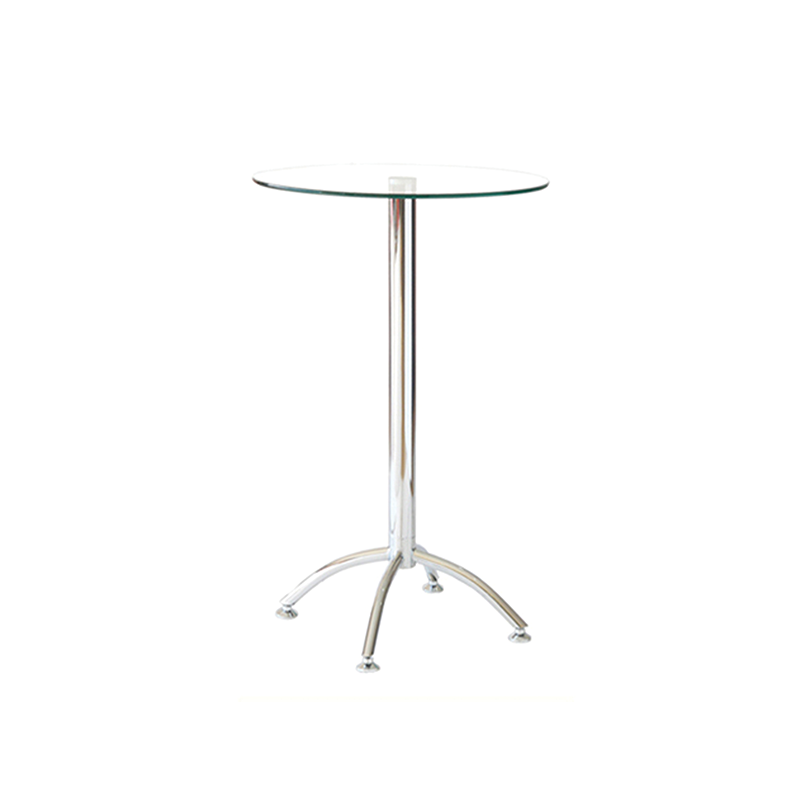 Glass Poseur Table with Spider Base