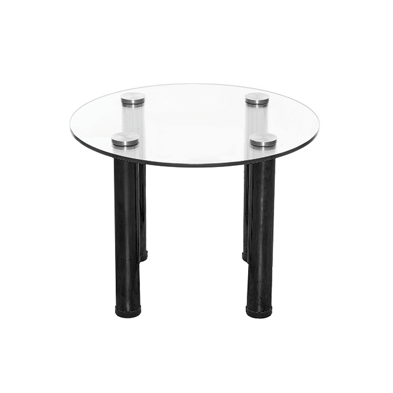 Round Glass Coffee Table With Black Legs