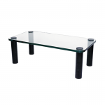 Rectangle Glass Coffee Table with Black Legs