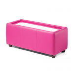 Pink Leather Rectangle Coffee Table