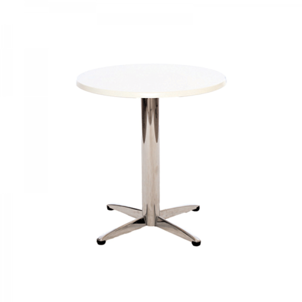 White Circular Bistro Table
