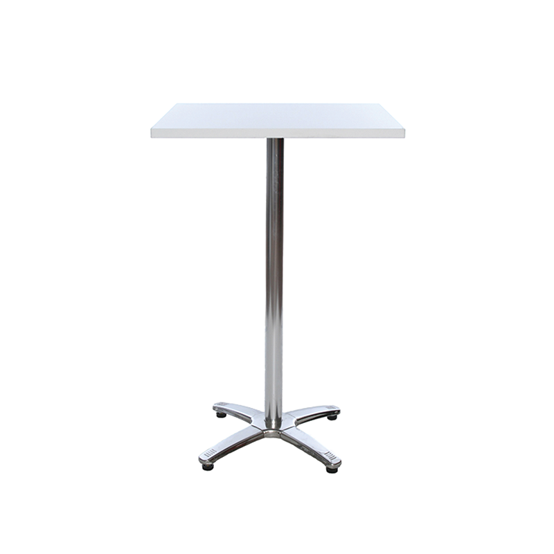 White Square Poseur Table