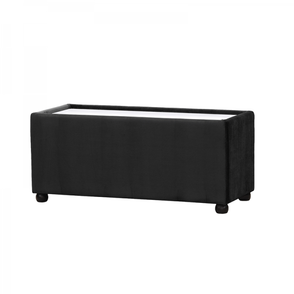Black Velvet Rectangle Coffee Table