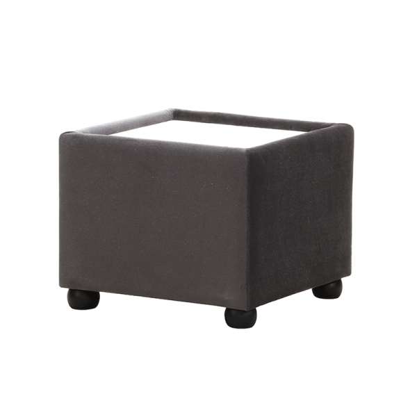 Grey Velvet Coffee Table