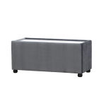Grey Velvet Rectangle Coffee Table