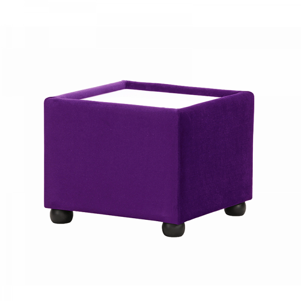Purple Velvet Coffee Table