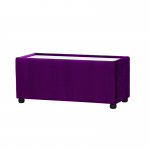 Purple Velvet Rectangle Coffee Table