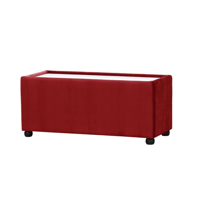 Red Velvet Rectangle Coffee Table