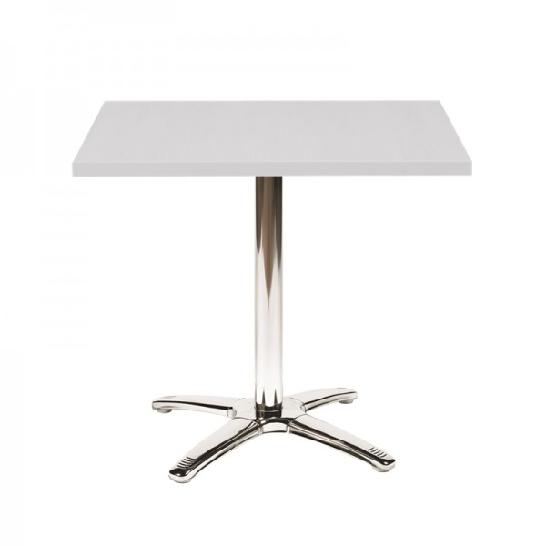 White Large Square Top Bistro Table