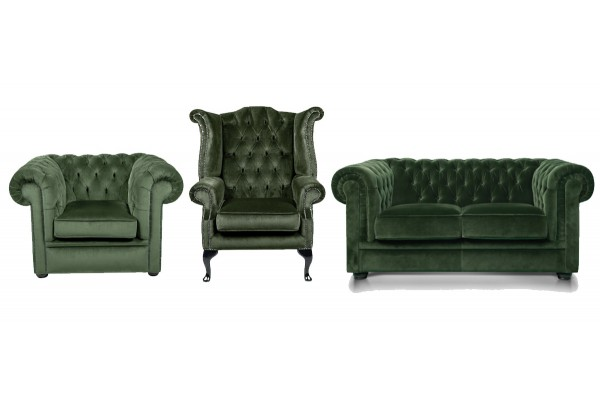 Gorgeous Green Velvet Furniture Collection
